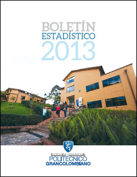 Boletín estadístico 2013