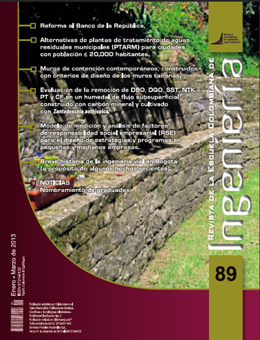 Revista de la Escuela Colombiana de Ingeniería Nº 89