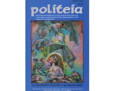 Politeia No. 18. La filosofía política alemana hoy