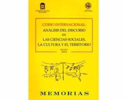 Curso Internacional: Análisis del discurso en las ciencias sociales, la cultura y el territorio