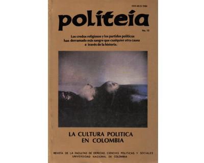 Politeia No. 15. La cultura política en Colombia