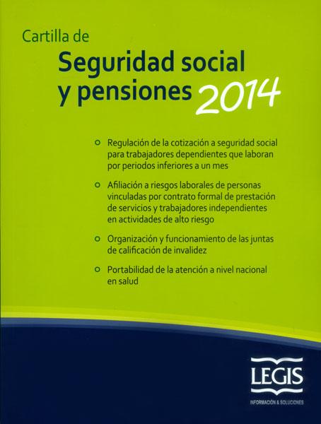 Cartilla de seguridad social y pensiones 2014