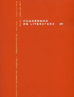Cuadernos de Literatura No. 29