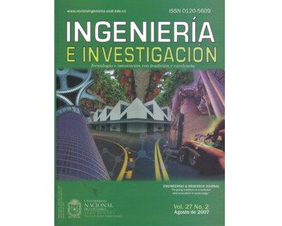 Ingeniería e Investigación Vol. 27 No. 2