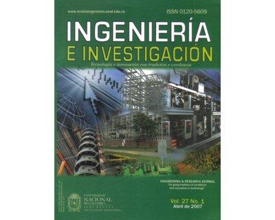 Ingeniería e Investigación Vol. 27 No. 1
