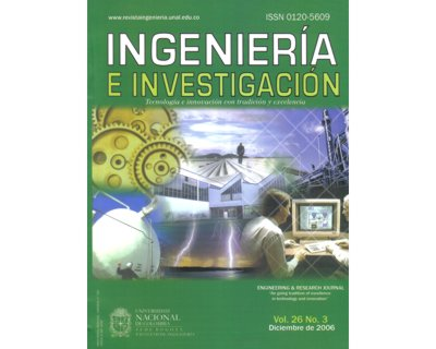 Ingeniería e Investigación Vol. 26 No. 3
