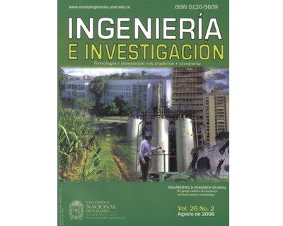 Ingeniería e Investigación Vol. 26 No. 2