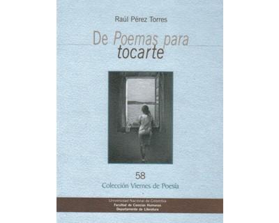 De poemas para tocarte. Colección Viernes de Poesía No. 58