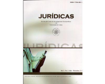 Jurídicas. Revista del Centro de Investigaciones Sociojurídicas CIS. Vol 3 No. 2