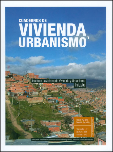Cuadernos de vivienda y urbanismo Vol. 6 No. 12