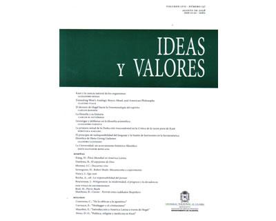 Ideas y Valores. Revista Colombiana de Filosofía. No. 137