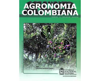 Agronomía Colombiana. Vol. 26. No. 1