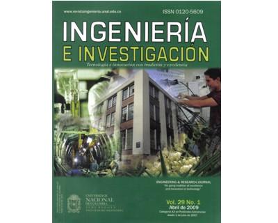 Ingeniería e Investigación Vol. 29 No. 1
