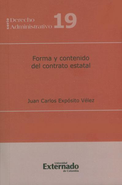 Forma y contenido del contrato estatal