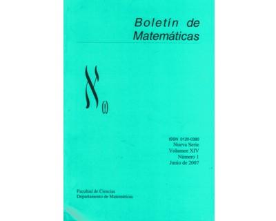 Boletín de Matemáticas Vol. XIV No. 1