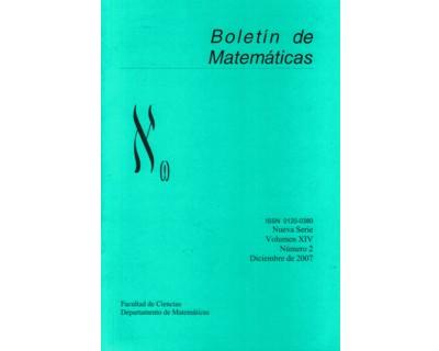 Boletín de Matemáticas Vol. XIV No. 2