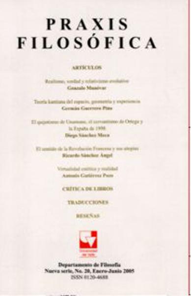 Revista Praxis Filosófica. No. 20
