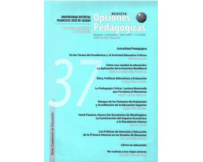 Opciones Pedagógicas No. 37 - Proyecto Académico de Pedagogía