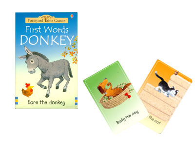 First words donkey. Ears the donkey