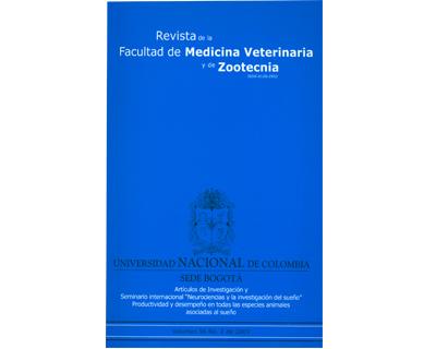 Revista de la Facultad de Medicina Veterinaria y de Zootecnia. No. 2. Vol. 56