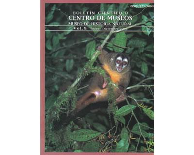 Boletín científico - Centro de Museos. Museo de Historia Natural. Vol. 9