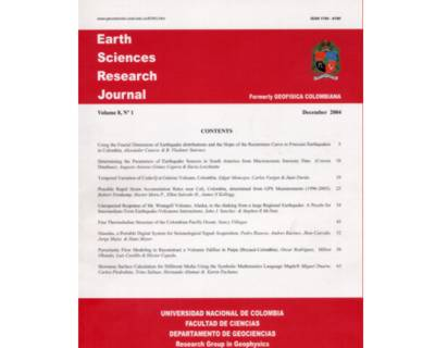 Earth Sciences  Research Journal. Volume 8 No. 1