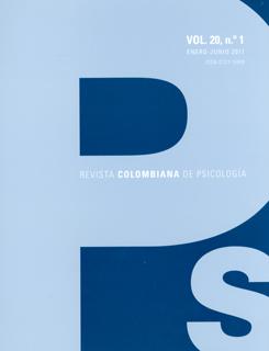 Revista colombiana de psicología. Vol 20. No. 1