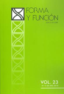 Forma y función. Vol 23. No. 2