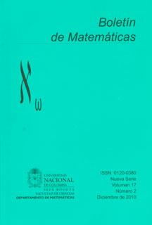 Boletín de Matemáticas Vol. XVII No. 2