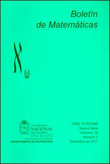 Boletín de Matemáticas Vol. XVIII No. 2