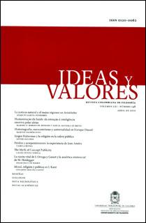 Ideas y Valores. Revista Colombiana de Filosofía. Vol. LXI. No. 148