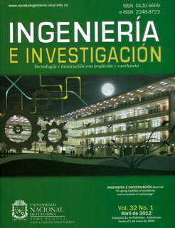 Ingeniería e Investigación Vol.32 No.1