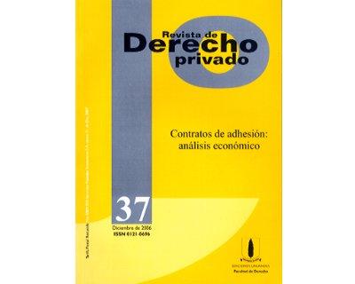 Revista de Derecho Privado No. 37. Contratos de adhesión: análisis económico