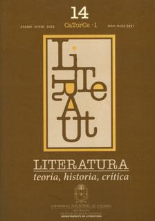 Literatura: Teoría, Historia, Crítica. Vol.14 No.1