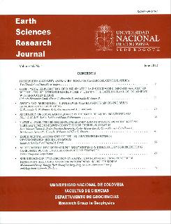 Earth Sciences Research Journal. Vol. 16 No. 1
