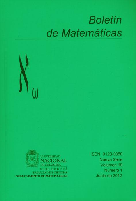 Boletín de Matemáticas Vol. XIX No. I