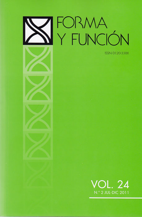 Forma y Función  Vol. 24. No. 2