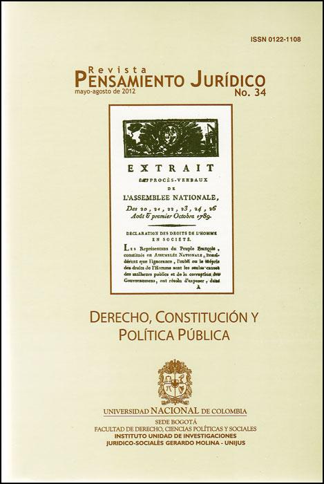 Revista Pensamiento Jurídico No. 34. Derecho, constitución y Política Pública
