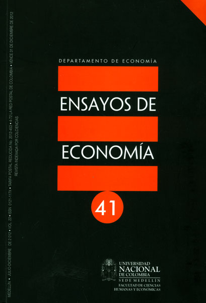 Ensayos de economía. No. 41
