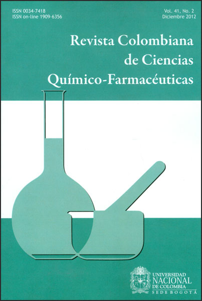 Revista colombiana de ciencias químico-farmacéuticas. Vol. 41. No. 2