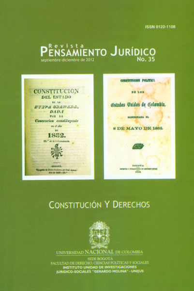Revista Pensamiento Jurídico No. 35. Constitución y Derechos