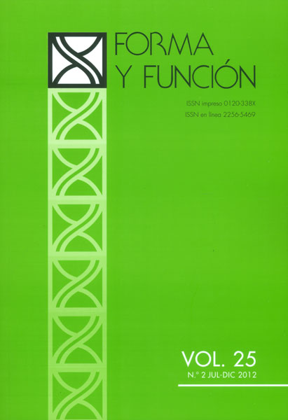 Forma y función Vol. 25 No. 2