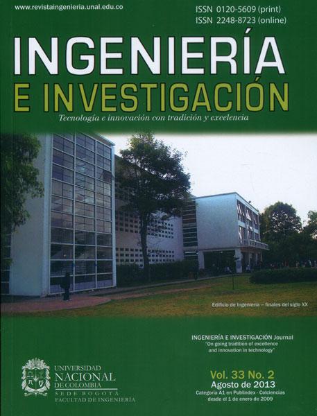 Ingeniería e Investigación Vol. 33 No. 2