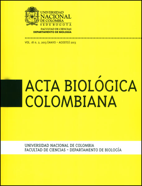 Acta biológica colombiana. Vol 18 No. 2