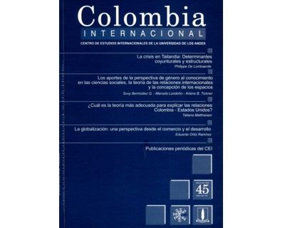 Colombia Internacional No. 45.