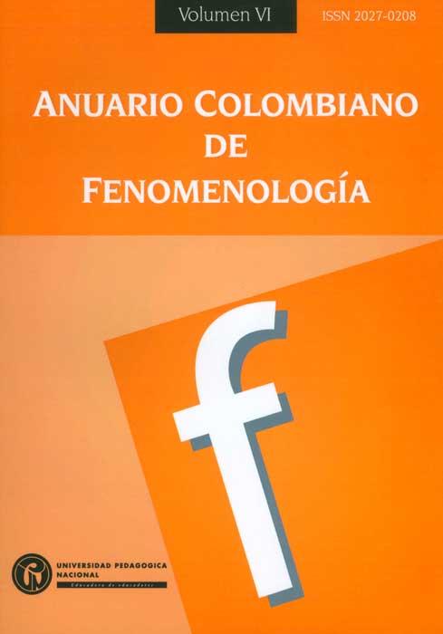 Anuario colombiano de fenomenología. Volumen VI