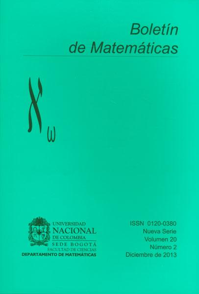 Boletín de Matemáticas Vol. 20 No. 2