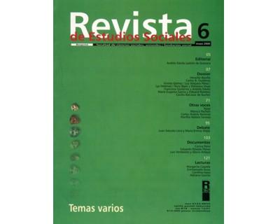 Revista de Estudios Sociales No. 06. Temas varios