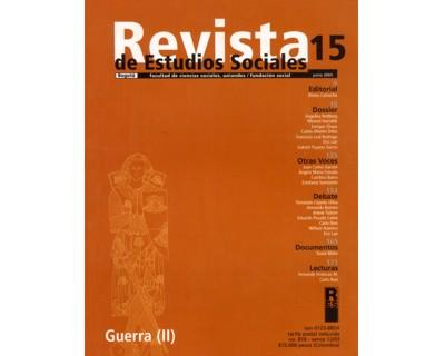 Revista de Estudios Sociales No. 15. Guerra (II)