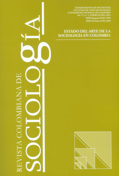 Revista Colombiana de Sociología Vol. 37 No. 1. Estado del arte de la sociología en Colombia